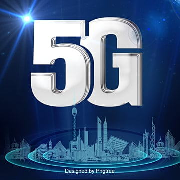 3d effect 5g material, 5g, Blue, Technology PNG and PSD