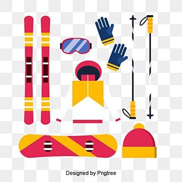 만화 황 스키, 스키, 붉은, 노란색 PNG 및 PSD