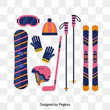컷 보라색 스키, 보라색, 스키 투구, 장갑 PNG 및 PSD