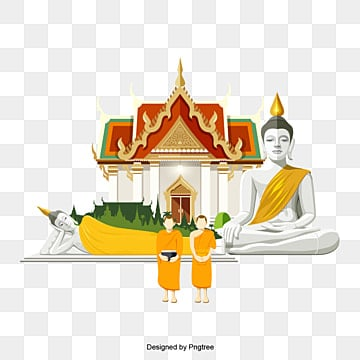 Cartoon characters Buddha elements, Character, The Grand Palace, The Sleeping Buddha PNG and Vector