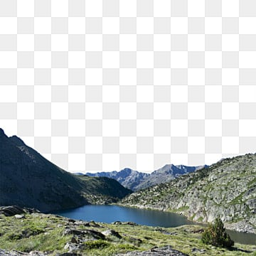 горное озеро, гора, озеро, природа PNG и PSD