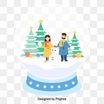 벡터 편평화 크리스마스 선물 크리스털 삽화 원소, 벡터, 크리스털 볼, 선물 PNG 및 벡터