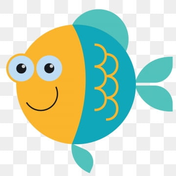 Fish, Fish, Blue, Smile PNG and Vector