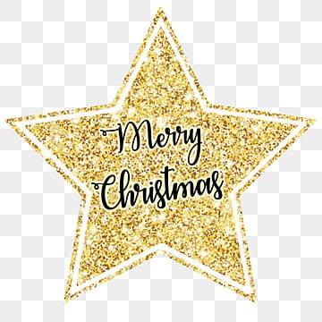 Christmas wishes golden star illustration image