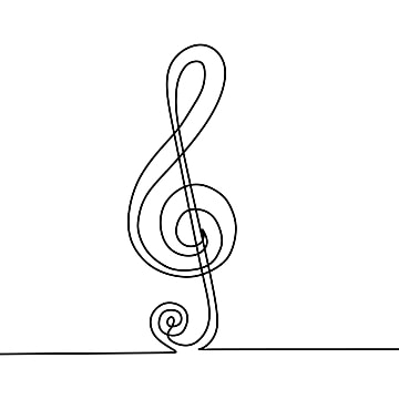 Free Download Continuous Line Drawing Of Music Note Symbol