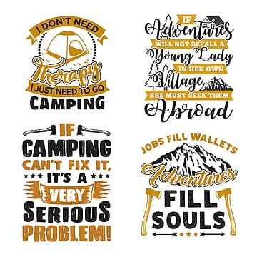 a744e48c8 camp campfire. PNG EPS. adventure quote and saying set, Quote,  Illustration, Typography PNG and Vector