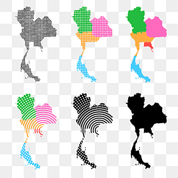 Thailand Map PNG Images | Vector and PSD Files | Free ...