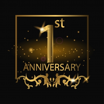 1st anniversary png images vector and psd files free download on pngtree https pngtree com freepng 1st anniversary logo with gold color 3696369 html