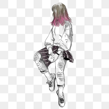 Drawing Girls PNG Images
