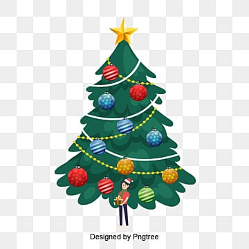 Christmas Images Free Cartoon.Cartoon Christmas Tree Png Images Vector And Psd Files