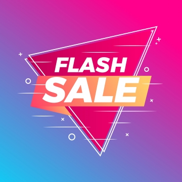 flash sale banner abstract gradient background, Sign, Icon, Symbol PNG and Vector