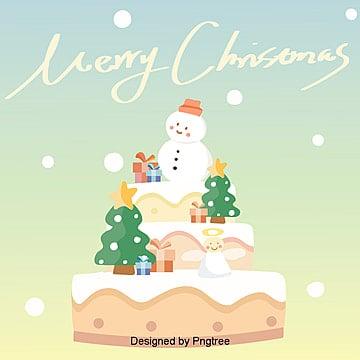 한국 크리스마스 케아크 눈사람 벽지, 평평함, 도안, 타오바오 소재 PNG 및 PSD