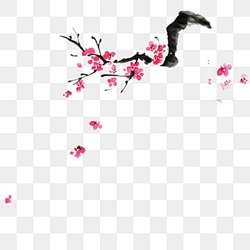korean traditional festival  chinese new year  chinese ink painting plum blossom illustration image