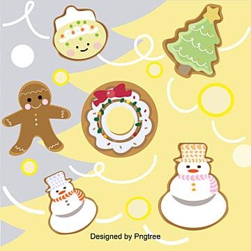 귀여운 크리스마스, 생강병, 과자, 눈사람 배경, 크리스마스, 강전 사람, 과자 PNG 및 벡터