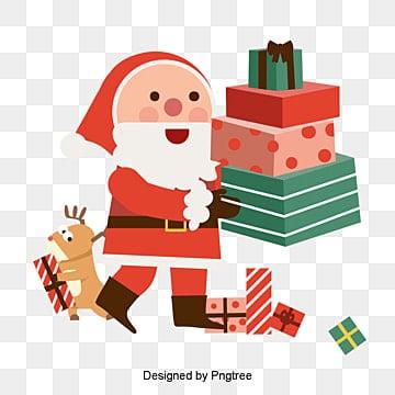 손바닥 화살량 편평풍 크리스마스 귀돌과 선물, 자유형, 삽화, 벡터 PNG 및 벡터