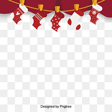 적색 복고 크리스마스 양말 테두리 성탄, 국경 틀, 크리스마스 테두리, 크리스마스 PNG 및 PSD