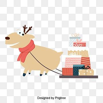 작은 풋풋 카피 캐리 사슴 선물 플러그, 카세트 사슴, 성탄절, 성탄절 사슴 PNG 및 PSD
