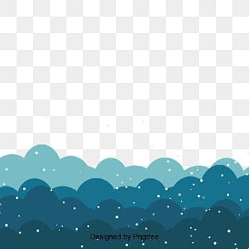 파란색 간략하다 눈 오다 설경 테두리, 국경 틀, 눈 눈, 심플한 테두리 PNG 및 PSD