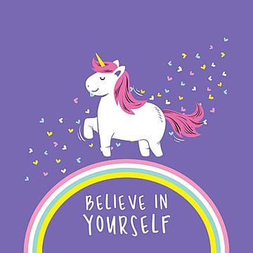 cute unicorn vector illustration quotes background card png 247745