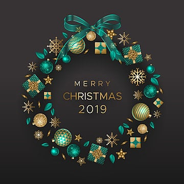 holiday wreath with gifts and christmas decorations, Christmas, Wreath, Holiday PNG and Vector