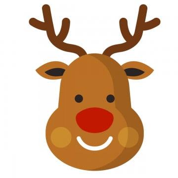 Reindeer head. Deer png vector psd