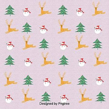 귀여운 크리스마스 종이 무늬 삽화 배경, 크리스마스, 성탄절, 사불상 PNG 및 PSD
