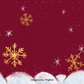 진홍색 복고 크리스마스 눈꽃 배경, 배경, 크리스마스 배경, 붉은 PNG 및 PSD