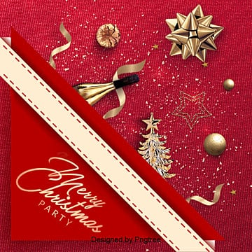 exquisite christmas party invitation poster background, Background, Christmas Background, Texture PNG and PSD