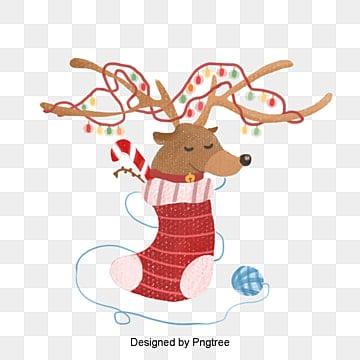 귀여운 크리스마스 크리스마스 사슴 손필 삽화, 크리스마스, 작은 사슴, 귀엽다 PNG 및 PSD