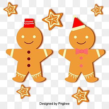 심플하게 그린 크리스마스 음식 강병 모양 삽화, 크리스마스 과자, 과자, 생강병 PNG 및 벡터