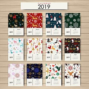 2019 floral  calendar, Calendar, Floral, Christmas PNG and Vector