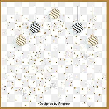 크리스마스 금빛 점 가두리, 크리스마스, 선물, 장식용 비단공 PNG 및 벡터
