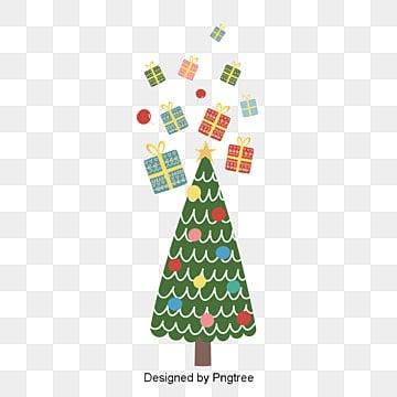 귀여운 크리스마스 선물 원소 성탄, 귀여운, 크리스마스 트리, 동화 PNG 및 벡터