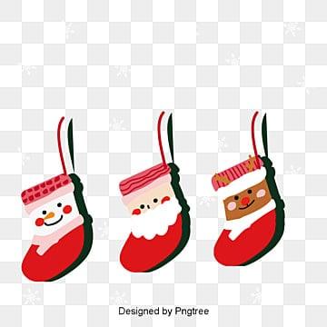 크리스마스 귀여운 크리스마스 양말 장식 삽화 성탄, 크리스마스 양말, 겨울, 귀여운 PNG 및 벡터