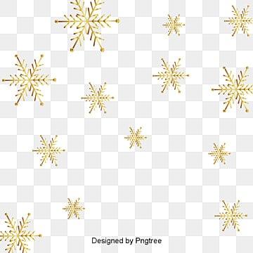 금빛 눈꽃 겨울 눈 오다 장면 눈꽃 장식, 눈꽃, 장식, 금빛 PNG 및 벡터