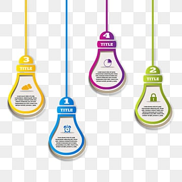 hanging infographic paper bulb, Infographic, Business, Template PNG and PSD