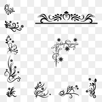 Black And White Flowers Png Images Vectors And Psd Files Free