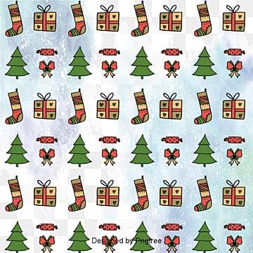 크리스마스 포장지 무늬 효과 배경, 크리스마스 트리, 귀여운, 크리스마스 선물 PNG 및 벡터