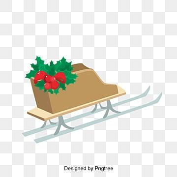 크리스마스 산타클로스 눈썰매 벡터 삽화, 크리스마스 장식품, 겨울, 눈썰매 PNG 및 벡터
