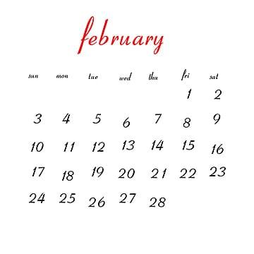 Febrero 2019 Calendario.Calendario De Febrero De Png Vectores Psd E Clipart Para Descarga