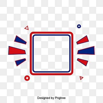 กรอบสี่เหลี่ยมสีขาว  สีฟ้า  สีแดง รูปภาพ PNG และเวกเตอร์