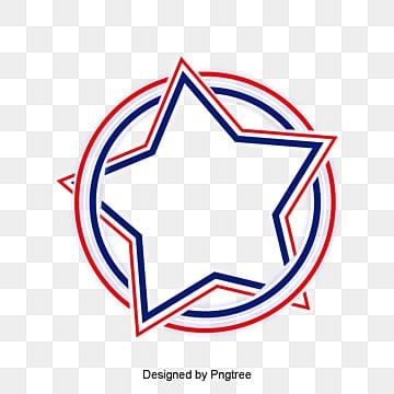 กรอบรูปดาว  ข้อความ  วงกลมสีแดงสีฟ้า PNG และ PSD