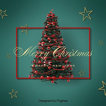 green vintage christmas tree delicate card background, Background, Christmas Background, Texture PNG and PSD