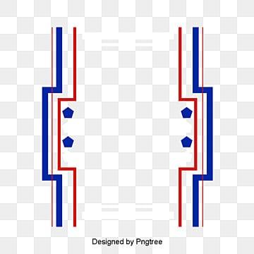 ออกแบบกรอบสีธงชาติไทย กล่องข้อความ  ธงประเทศ  กรอบขอบ รูปภาพ PNG และเวกเตอร์