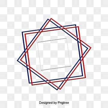 กรอบรูปลายสลับกรอบรูปลายสลับ  สีฟ้า  สีแดง PNG และ PSD