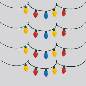 Christmas Lights Vector Free.Christmas Lights Png Vector Psd And Clipart With
