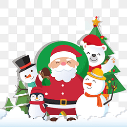 0c837d7c613a7 Christmas background with Santa Claus and Merry Christmas