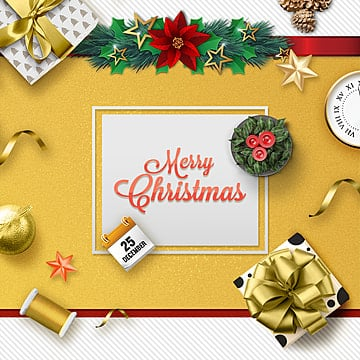 golden christmas in korea, Gold, Gift, Calendar PNG and PSD