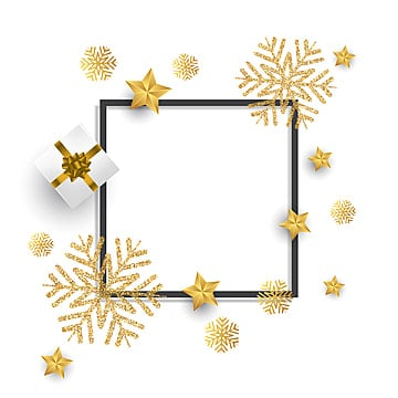 christmas background with snowflakes gift and stars, Happy New Year, Christmas, Background PNG and Vector