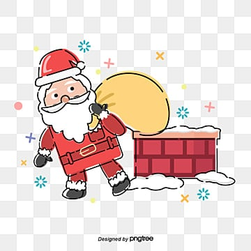 christmas santa claus, Santa Claus., Bearing Gifts, Yellow Bag PNG and Vector